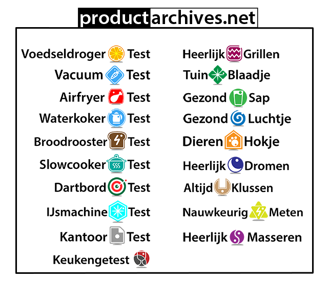 Productarchives broodroostertest